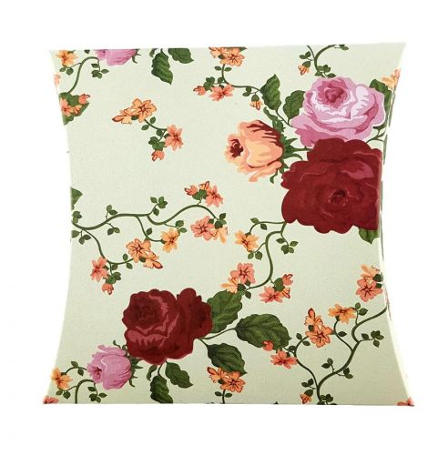 Animated Red and Orange Rose - Printed Large Pillow Floral Favour Box