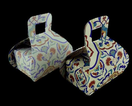 Arabesque Damask - Printed Handbag Floral Favour