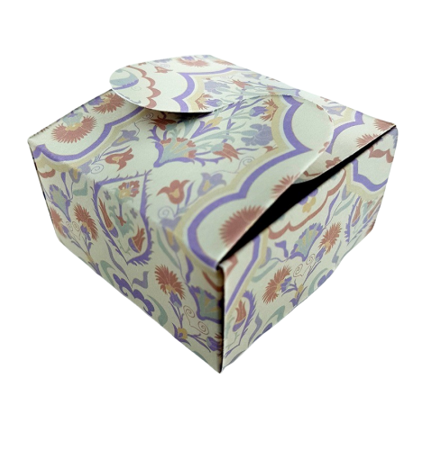 Arabesque Damask - Printed Butterfly Favour Box