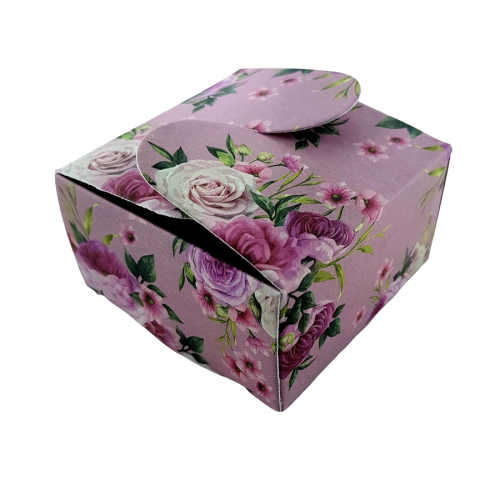Vintage Pink Floral - Printed Butterfly Floral Favour Box